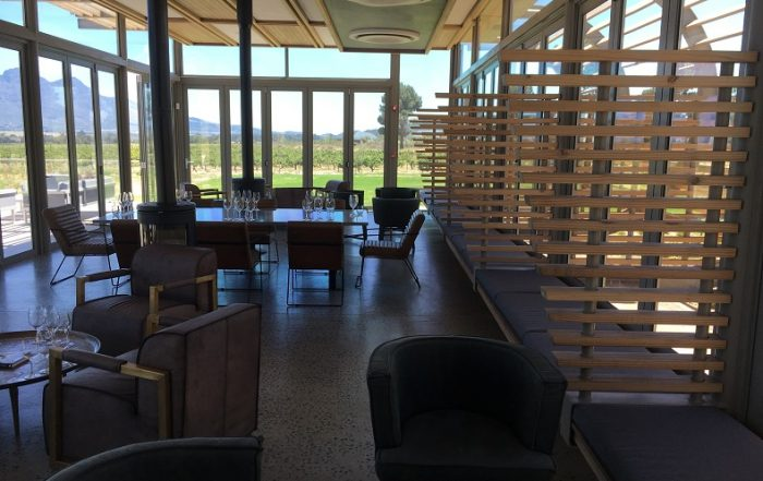 Eco-friendly and sustainable materials are used for the winery.