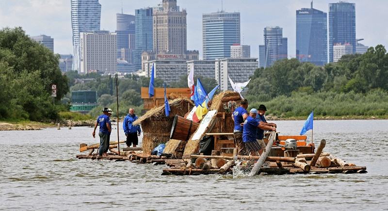 A group in Poland are reviving the ancient tradition of timber floating.
