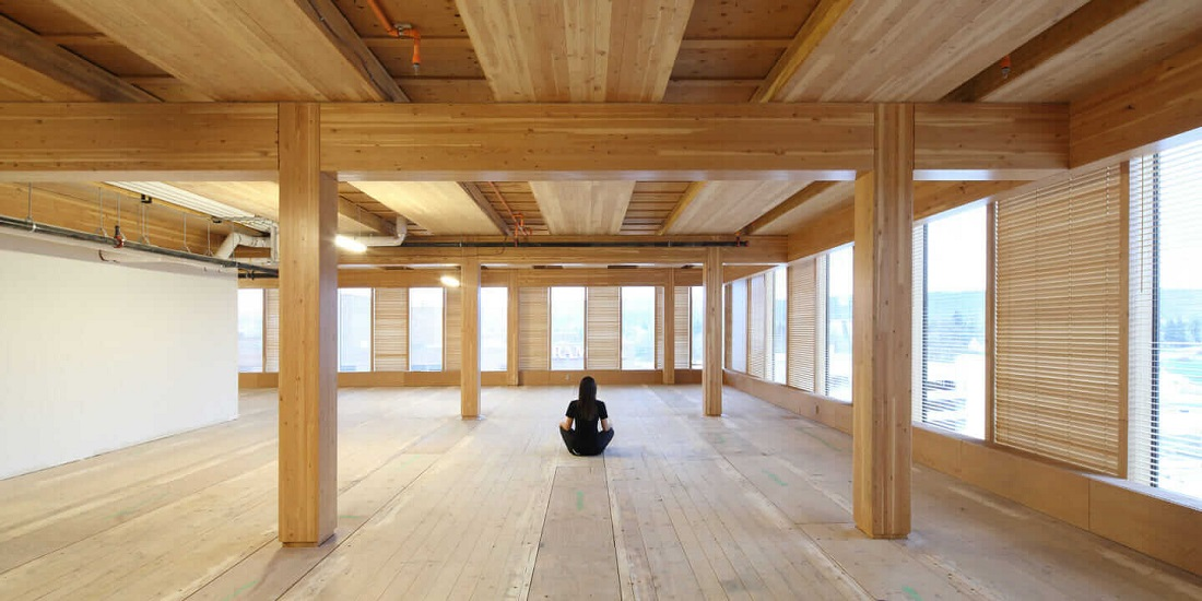 Timber building systems include cross laminated timber (CLT), laminated veneer lumber (LVL) and glue laminated timber (glulam). Image credit: Autodesk
