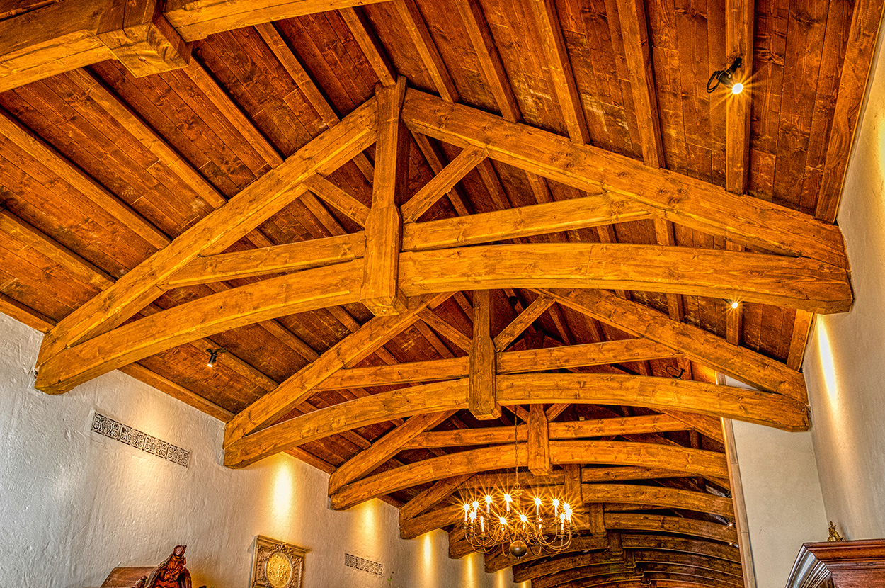 Spruce was the chosen timber for this project. Image: Rooftek Trusses
