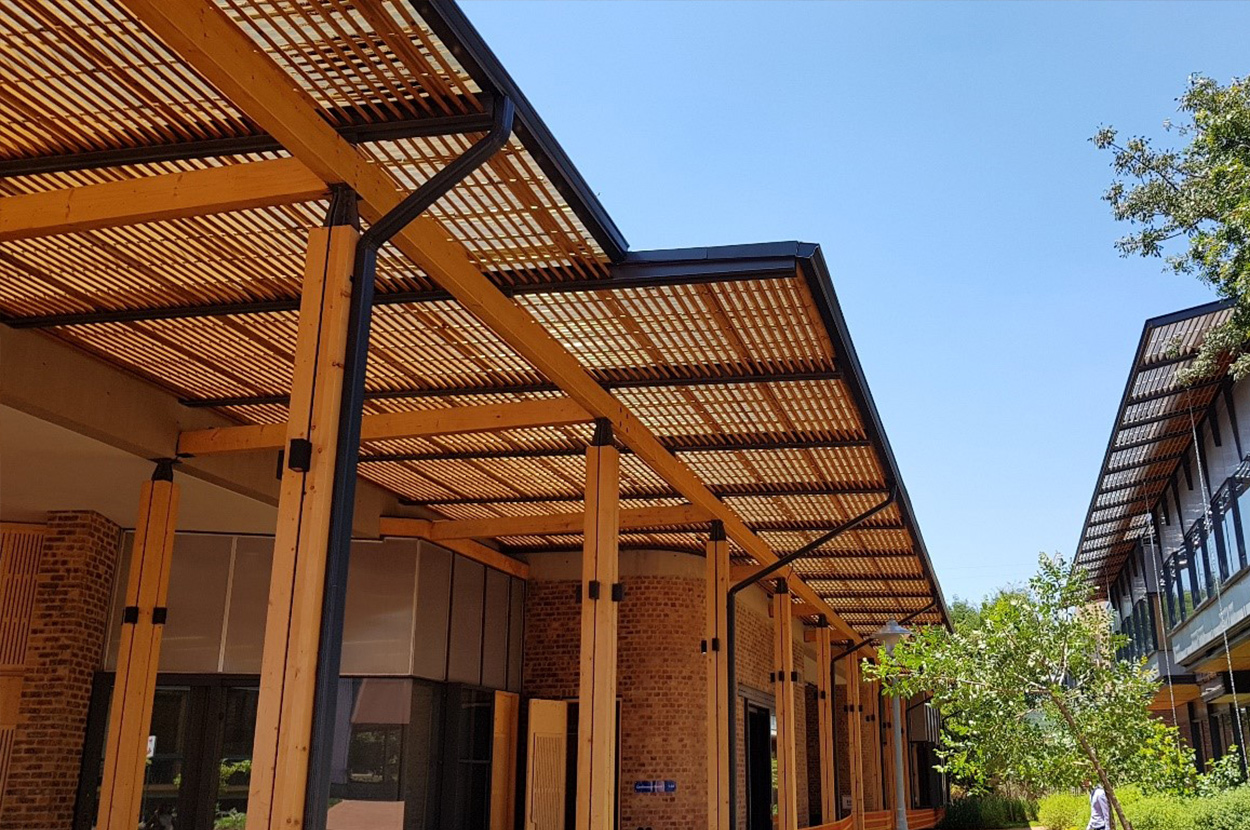 The Future Africa University Campus in Pretoria. Image: Lunawood