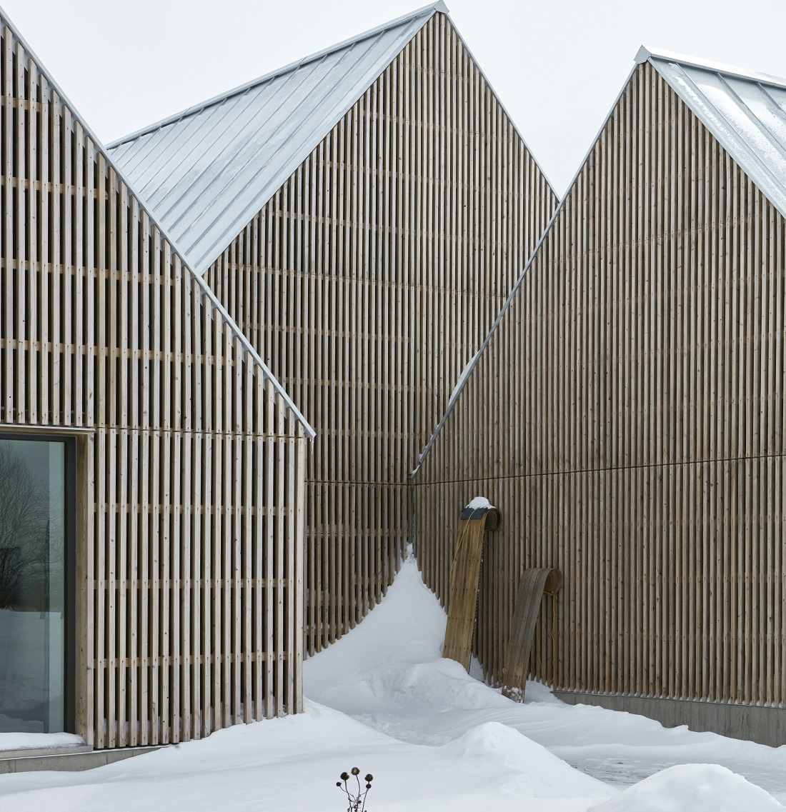 A timber façade masterpiece