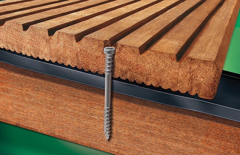 Spax's milled end tapered square cut point 4CUT makes pre-drilling unnecessary in most of woods.