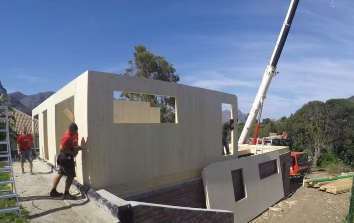 Watch a timber house being built in 23 days