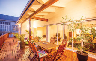 Access to outdoor space was important to the couple's lifestyle.