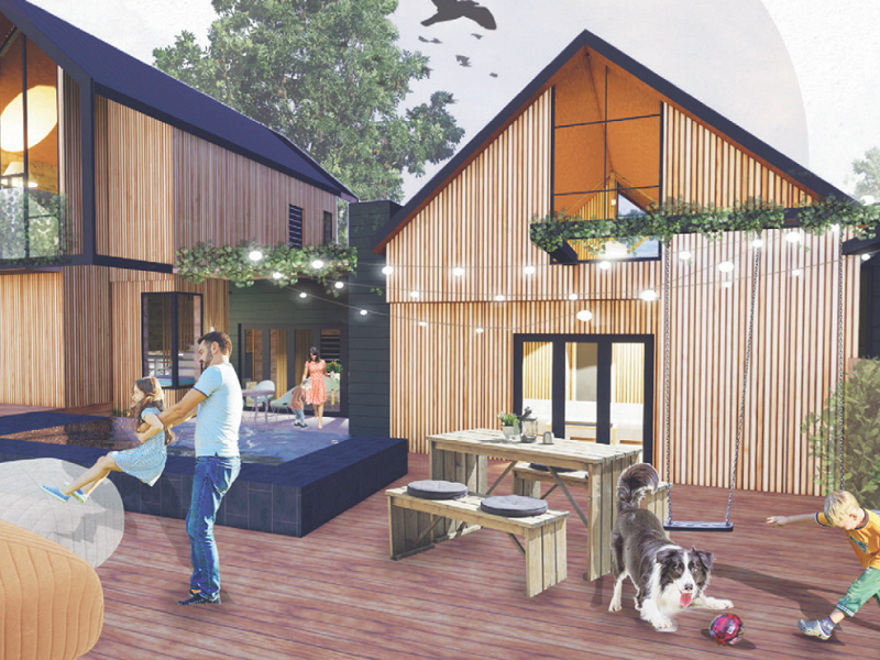 Carla Jooste's design was selected as the winner for the Timber competition.