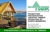 The South African Wood Preservers Association (SAWPA) is a non-profit association formed in 1980, by the South African wood preserving industry, primarily to promote timber treatment and treated timber products. Commercially grown timber in Southern Africa is mainly of the Eucalyptus and Pinus species, both of which are not durable. By applying the correct chemicals to these timbers we are able to ensure that the timber performs as if it were durable thereby giving predictable long life performance.