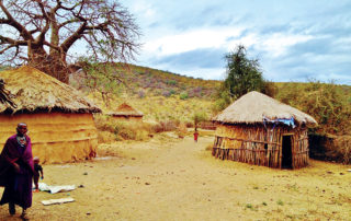 Some traditional houses in Africa were built from mud, straw, timber and grass. Credit: Pixabay