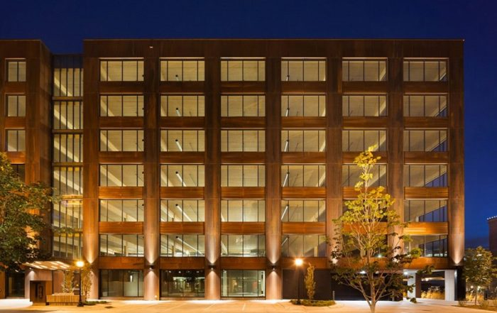 T3 is the largest modern mass timber building in the USA. Iamge credit: Michael Green Architecture