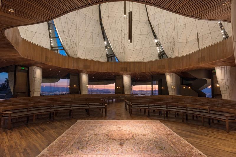 The inside of the Baha'i Temple of South America. Image credit: Sebastián Wilson León