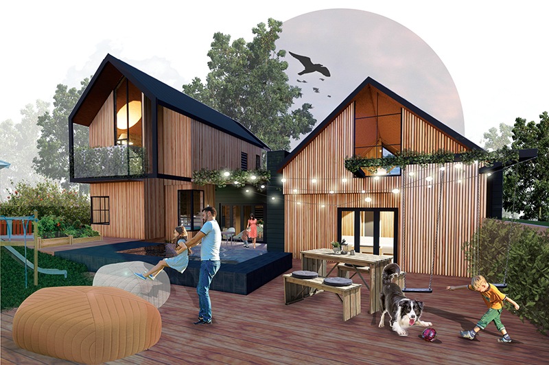 The winning house design for the timber competition. Credit: Carla Jooste