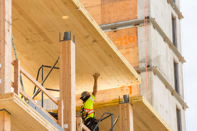 With recent changes in building codes and a quest to find more sustainable ways to build taller, we are seeing a rise in the number of taller mass timber buildings popping up around the world. Image credit: Archdaily