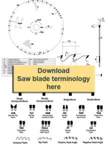 Click here to download Saw blade terminology.