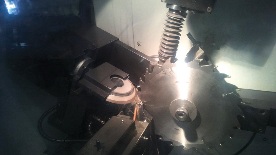 Blade sharpening is the final step in the production process.
