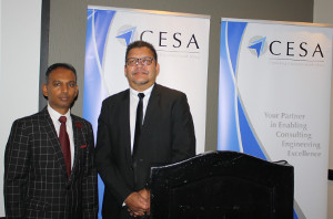 Consulting Engineers South Africa's (CESA) President, Sugen Pillay (left). Image credit: CESA