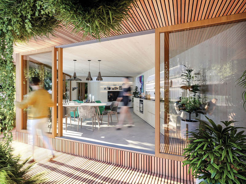 The building was created using biophilic principles, connecting architecture with nature to improve the life quality of the people who use the building. Image credit: GG-loop