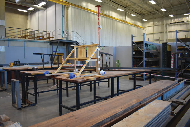 Timber has a prominent presence at the University of Pretoria's engineering 4.0 facility. Photo by ©Leon Louw