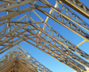 There is legislation governing South Africa's building and construction sector that specifies standards for designing, constructing, and erecting timber roof trusses. Photo by Sterling Lumber